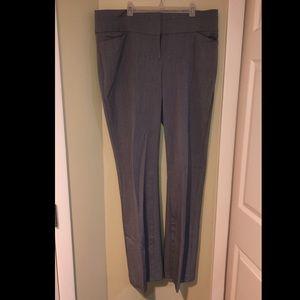 Maurice's grey dress bootcut pants 11/12 long